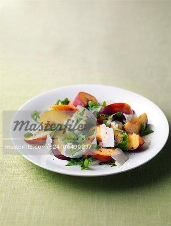 Peach and rocket salad