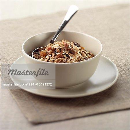 Bowl of Apricot Muesli