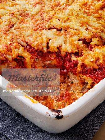 Whole Italian lasagna meal
