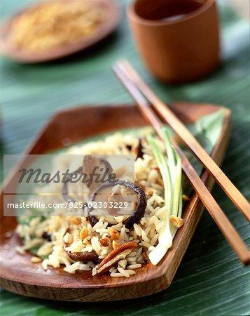 sauteed rice with chinese mushrooms