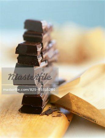 Squares of chocolate