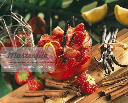 Spicy strawberry fruit salad