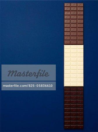 Row of chocolate bars