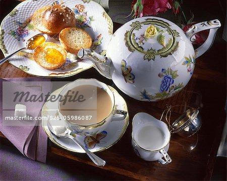 English-style tea with milk