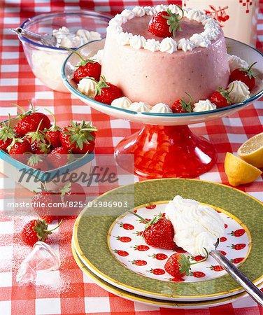 Strawberry Bavarois dessert