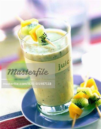 Mango and kiwi milkshake