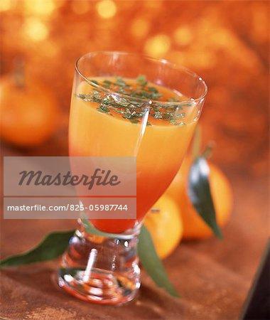 Grapefruit-mint cocktail