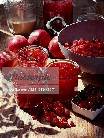 Nectarine and summer fruit jam