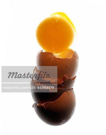 Egg yolk and egg shells