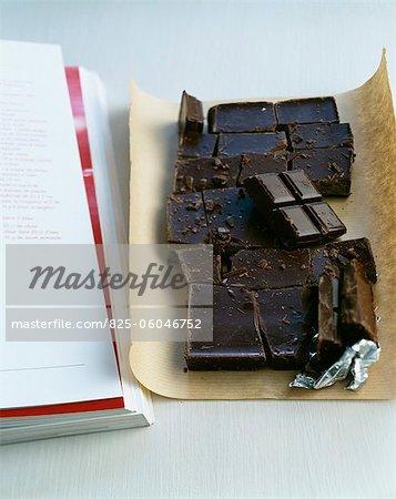 Broken bar of chocolate