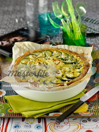 Zucchini and Petit Billy savoury tart