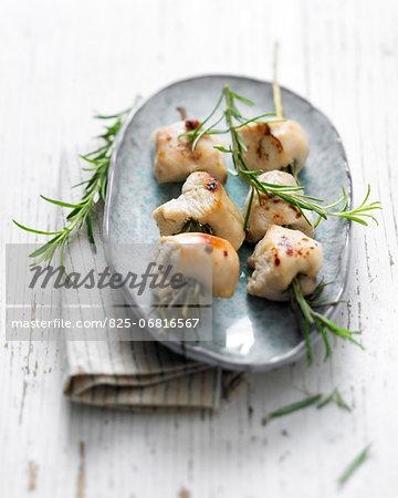 Chicken rosemary brochettes