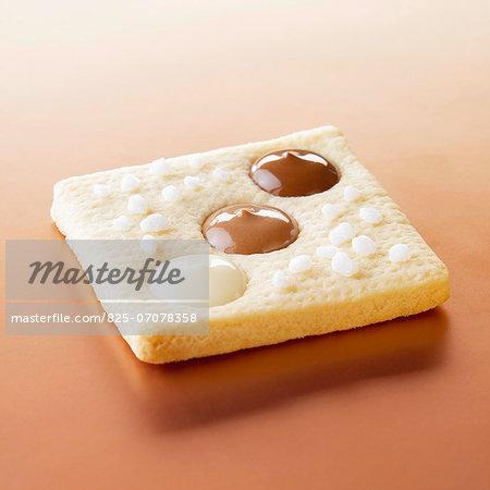Three chocolate domino cookie