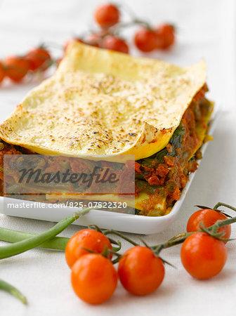 Vegetable and parmesan lasagnes