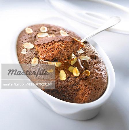 Chocolate and almond fondant
