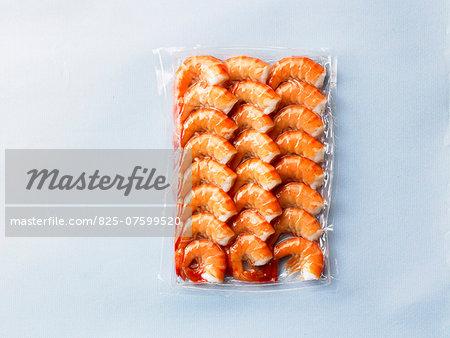 Vacuum packed shrimps
