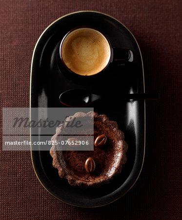 Choco-coffee tartlet