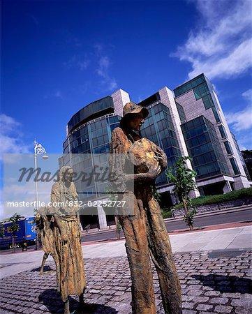 Famine Memorial, Custom House Quay, Dublin, Ireland