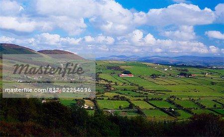Co Armagh, Patchwork Fields, Near Slieve Gullion