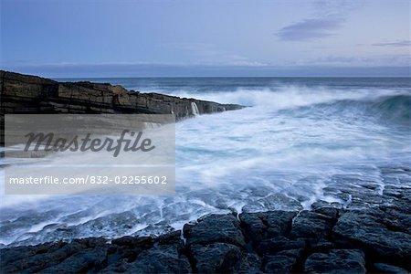 Mullaghmore, County Sligo, Ireland; Rocky shoreline and seascape