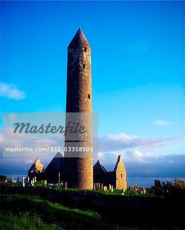 Round Tower Near Gort, Co Galway, Ireland