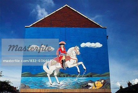 Belfast, Co Antrim, Northern Ireland; Loyalist Mural