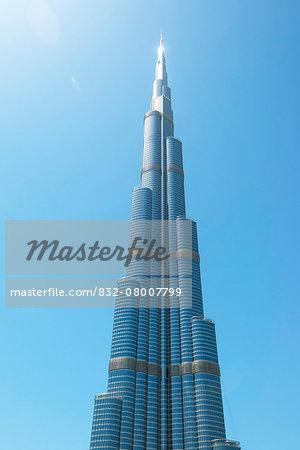 Detail of the Burj Khalifa; Dubai, United Arab Emirates