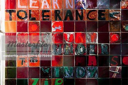 Graffiti on a wall,Haight-Ashbury,San Francisco,California,USA