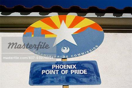 Information sign on a church,St. Mary's Basilica,Phoenix,Maricopa County,Arizona,USA