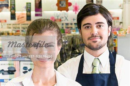 Portrait of two sales representatives