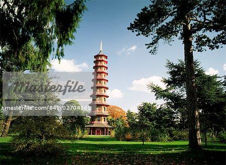 The pagoda, Kew Gardens, UNESCO World Heritage Site, Greater London, England, United Kingdom, Europe