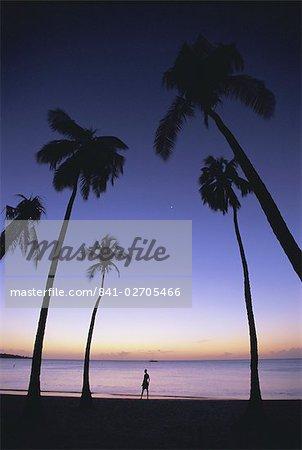 Grand Anse beach at sunset, Grenada, Windward Islands, West Indies, Caribbean, Central America