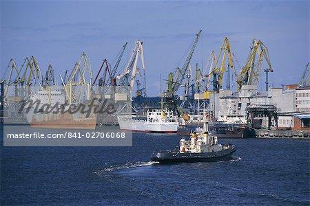 Shipping and docks, Riga, Latvia, Baltic States, Europe