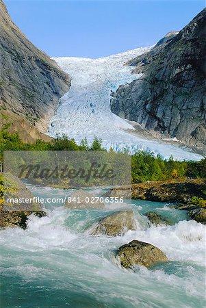 Briksdalbreen Glacier near Olden, Western Fjords, Norway