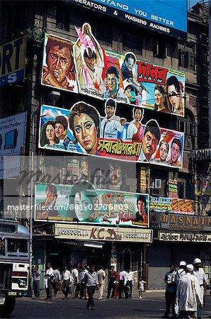 Film advertisment hoardings, Kolkata, (Calcutta), India, Asia