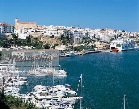 Mahon harbour, Menorca (Minorca), Balearic Islands, Spain, Mediterranean, Europe