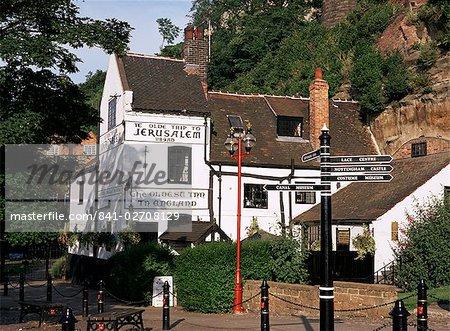 Ye Olde Trip to Jerusalem, the oldest inn in England, Nottingham, Nottinghamshire, England, United Kingdom, Europe