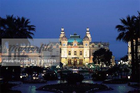 The Casino by night, Monte Carlo, Monaco, Europe