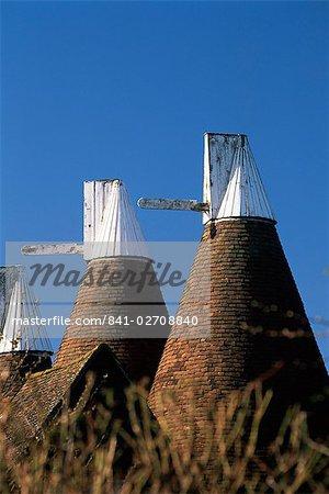 Oast house roofs, Chiddingstone, Kent, England, United Kingdom (U.K.), Europe