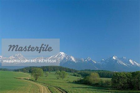 High Tatra Mountains from near Poprad, Slovakia, Europe