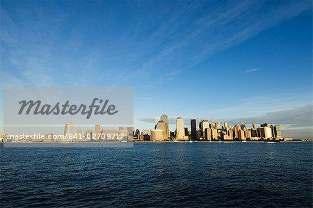 Manhattan skyline across the Hudson River, New York City, New York, United States of America, North America