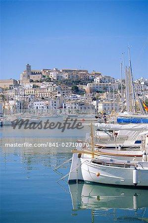 Ibiza Town and harbour, Ibiza, Balearic Islands, Spain, Europe
