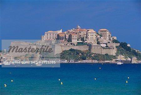 The citadel, Calvi, Corsica, France, Mediterranean, Europe