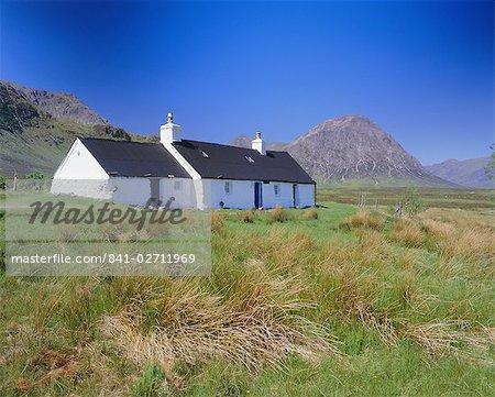 Black Rock Cottage, Glencoe (Glen Coe), Highlands Region, Scotland, United Kingdom, Europe