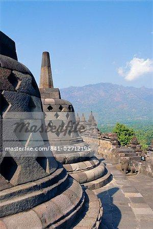 Buddhist temple, Borobodur (Borobudur) , Java, Indonesia