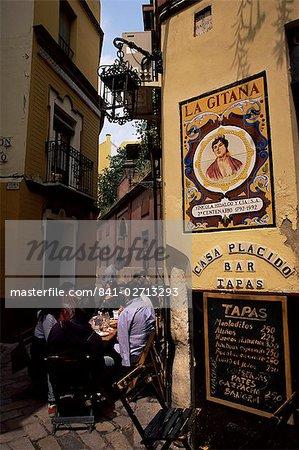 Tapas bar, Barrio Santa Cruz, Seville, Andalucia, Spain, Europe
