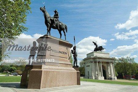 Statue of the Duke of Wellington, Hyde Park Corner, London, England, United Kingdom, Europe
