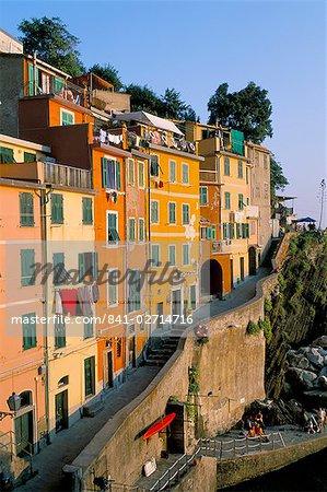 Village of Riomaggiore, Cinque Terre, UNESCO World Heritage Site, Liguria, Italy, Europe
