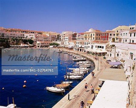 Harbour and village, Es Castell, Menorca (Minorca), Balearic Islands, Spain, Mediterranean, Europe