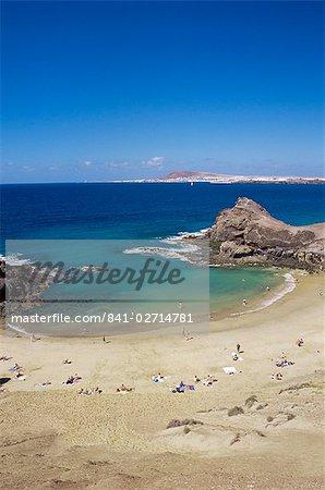 Papagayo beach, Lanzarote, Canary Islands, Spain, Atlantic Ocean, Europe